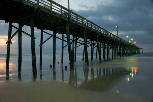 Jolly roger inn pier oceanfront motel hotel fishing pier for Topsail fishing pier